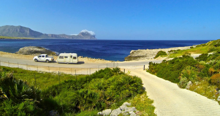 Sicily Island with Caravan