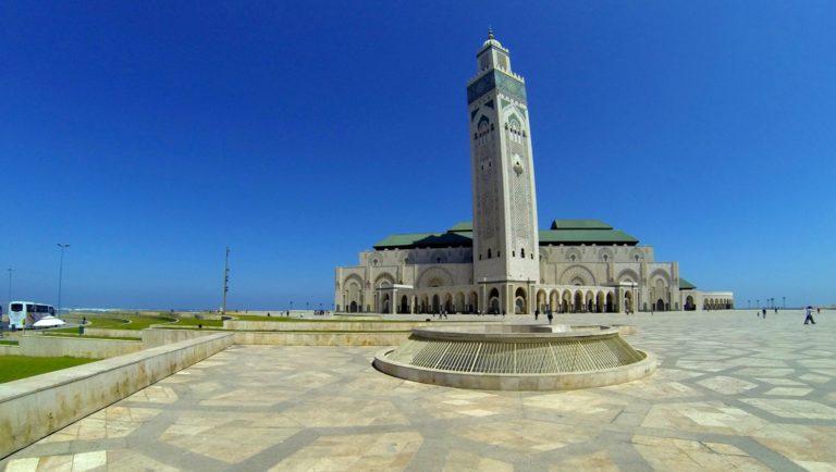 Hassan II Mosque in Casablanca—largest mosque in Africa